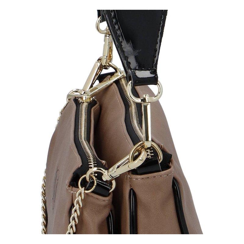 Moderní dámská koženková kabelka MASSIMO Iris,tmavě béžová