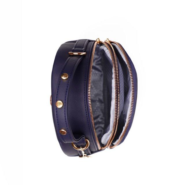 Dámský koženkový batoh Gina, modrý