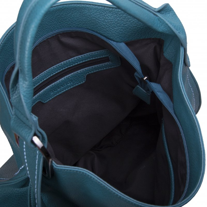 Luxusní dámská koženková kabelka BULAGGI Deb, smaragdově zelená