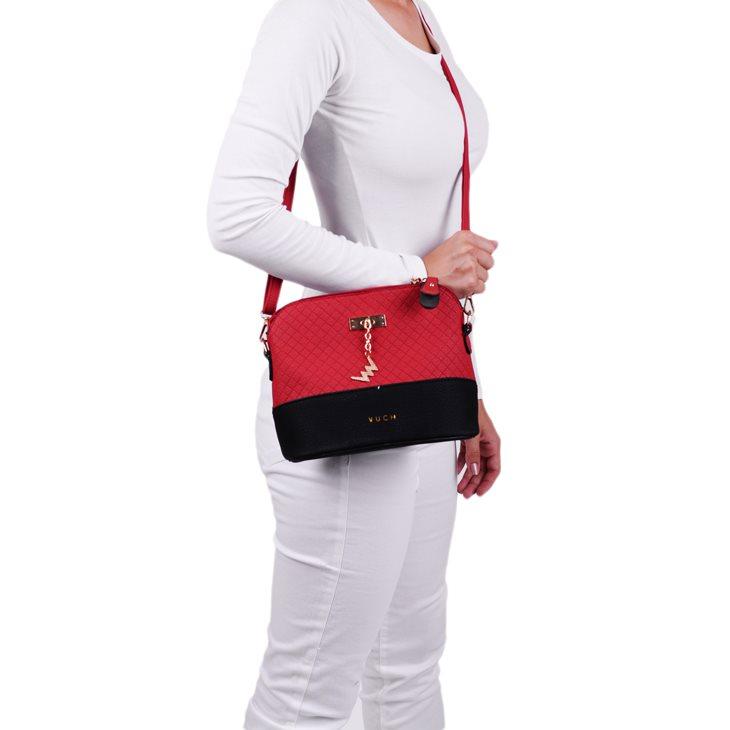 Dámská koženková kabelka VUCH Gigi, červená