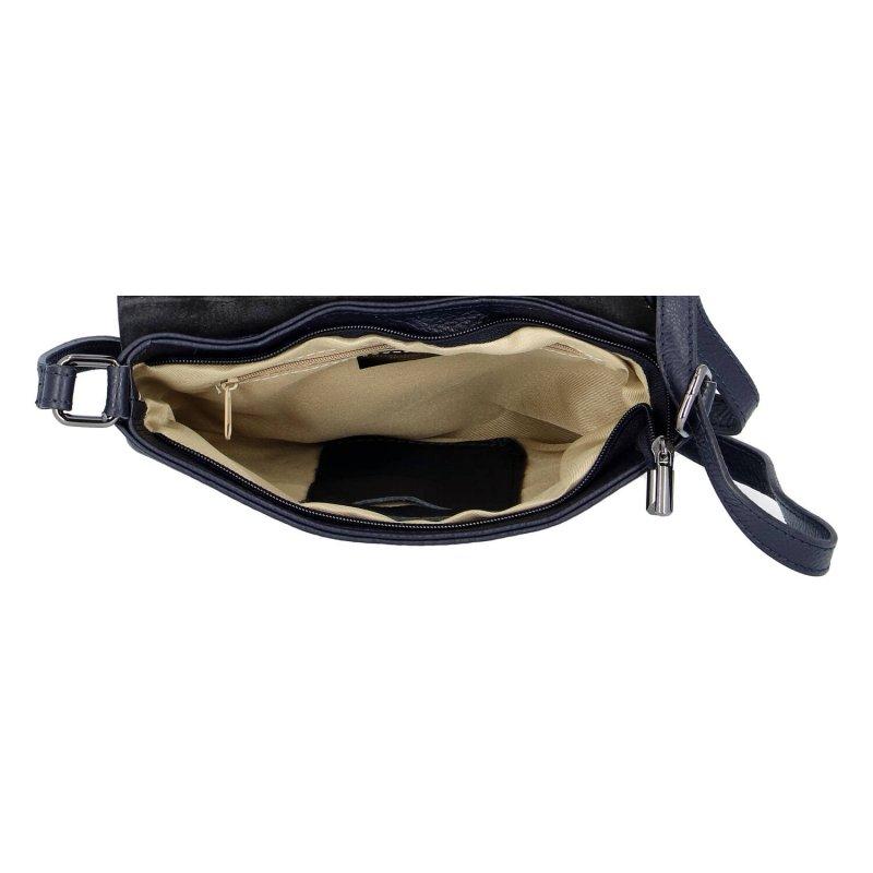 Praktická dámská kožená crossbody kabelka Sweet Sisi, tmavě modrá