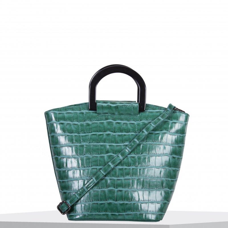 Moderní dámská koženková kabelka BULAGGI Croc, zelená