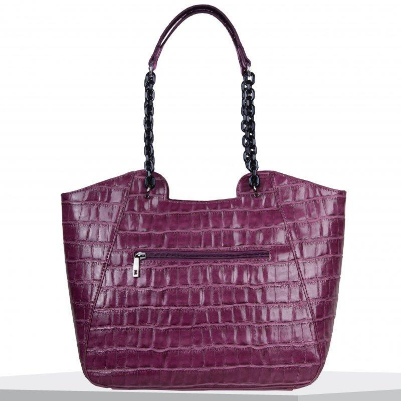 Luxusní dámská koženková kabelka BULAGGI Shopping Croc, fuchsia