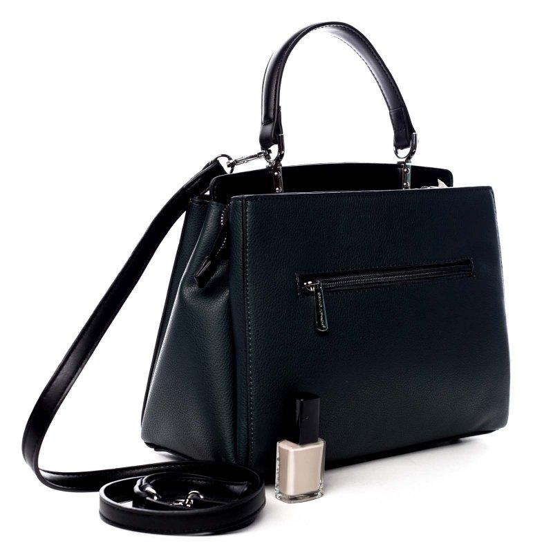 Dámská koženková elegantní kabelka Sára zelená
