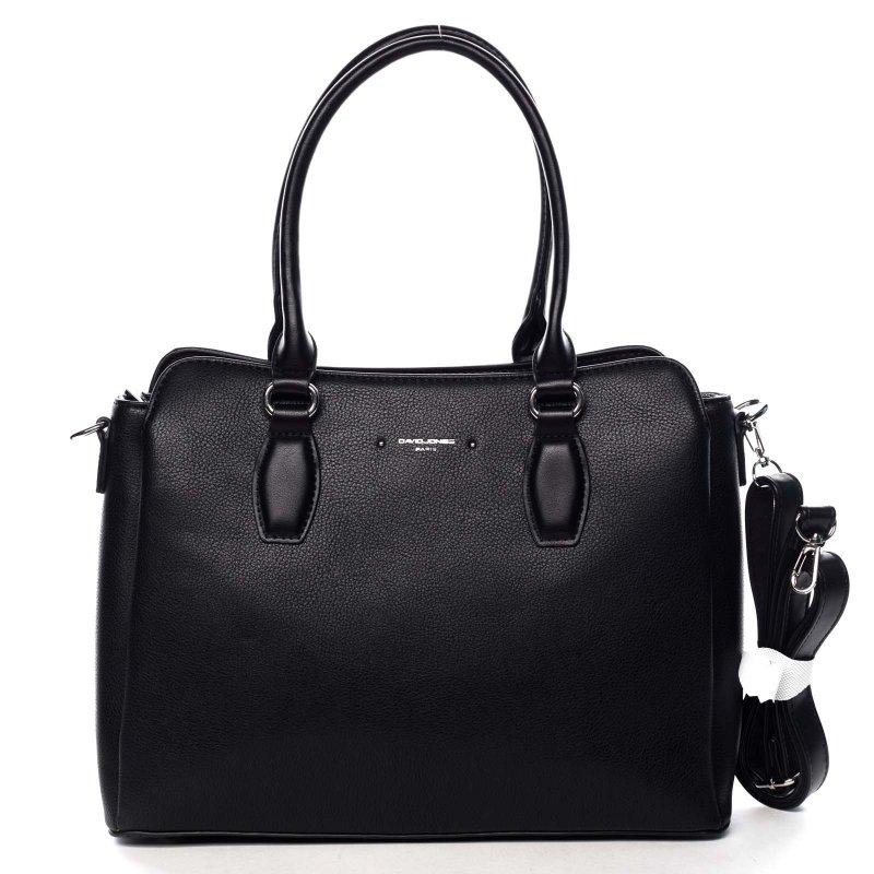 Stylová dámská koženková kabelka Cindy černá