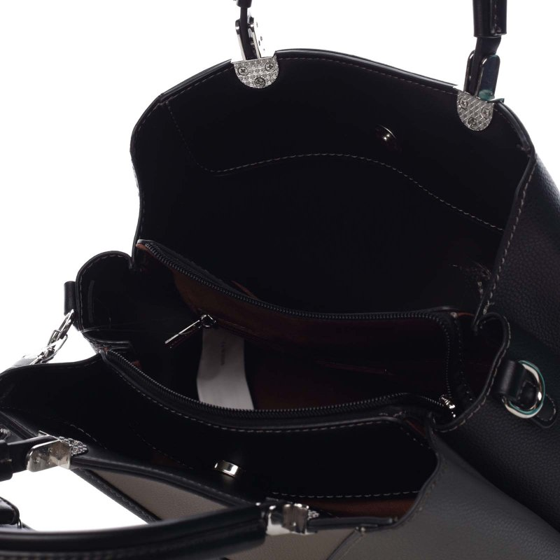 Stylová dámská koženková kabelka Marina černá