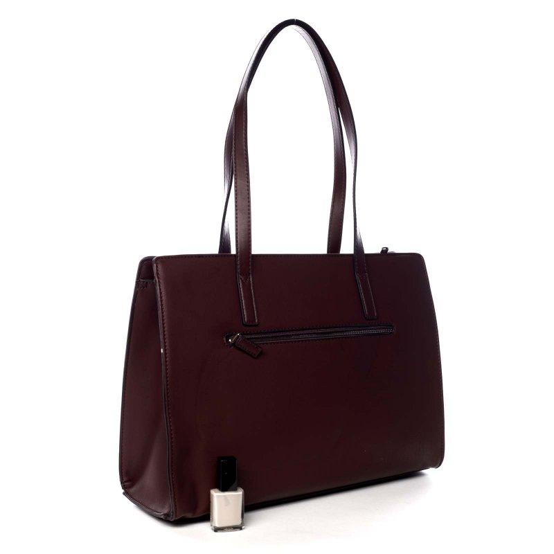 Pevná pracovní dámská koženková taška Valentína vínová