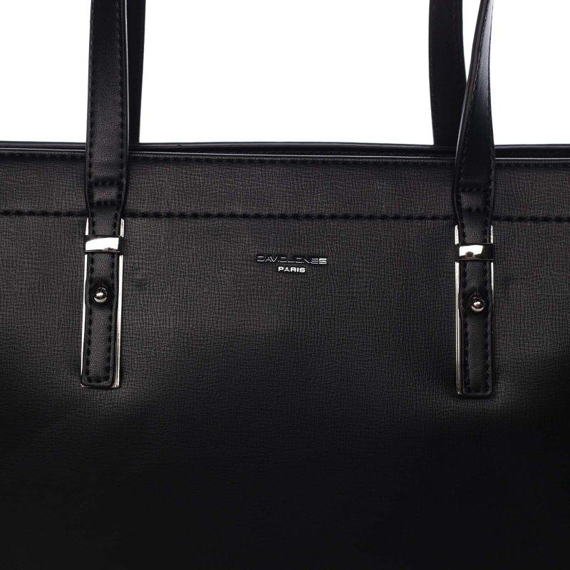 Pevná pracovní dámská koženková taška Valentína černá