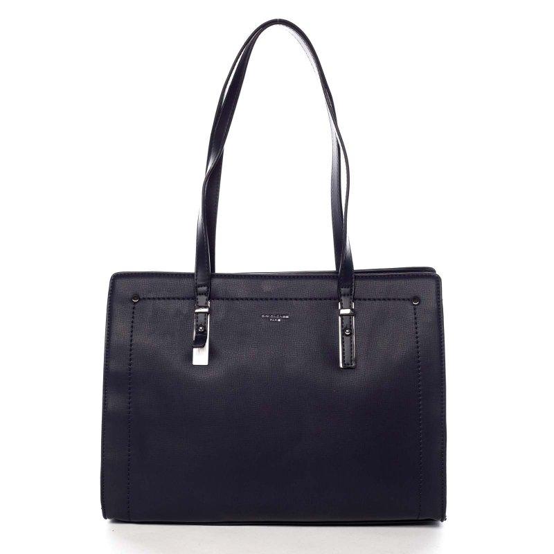 Pevná pracovní dámská koženková taška Valentína modrá