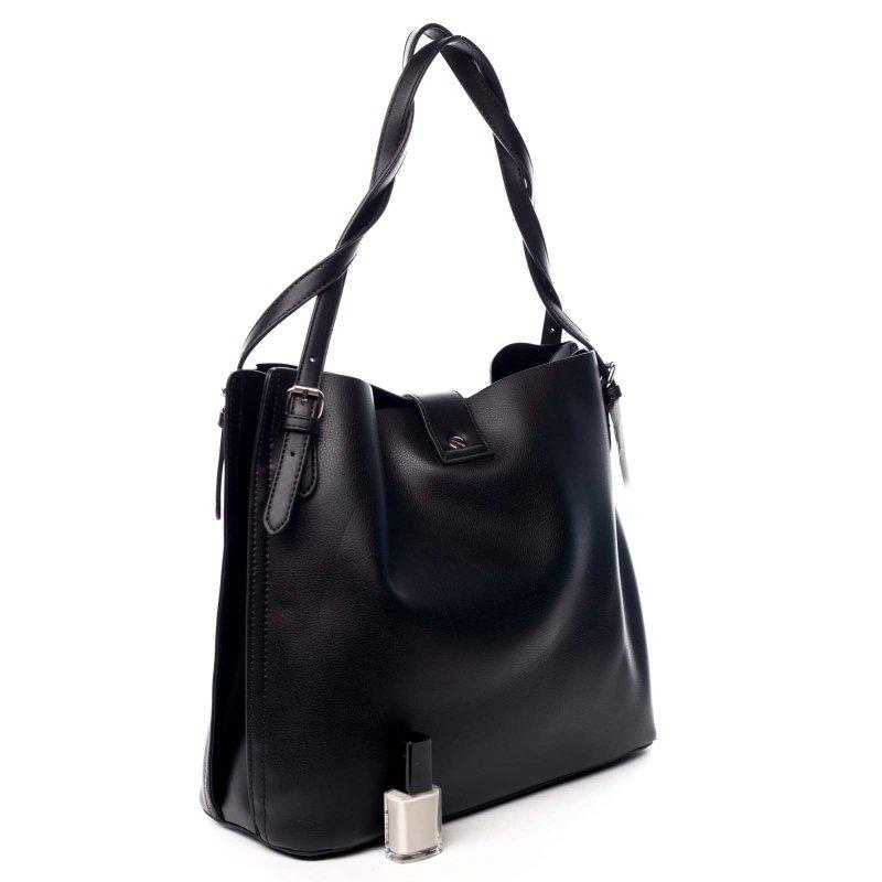Zajímavá dámská koženková kabelka Beatricie černá