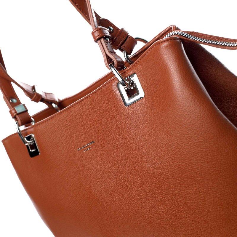 Velká praktická dámská taška Glorie oranžovohnědá