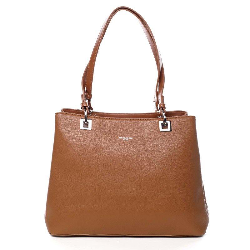 Velká praktická dámská taška Glorie koňaková