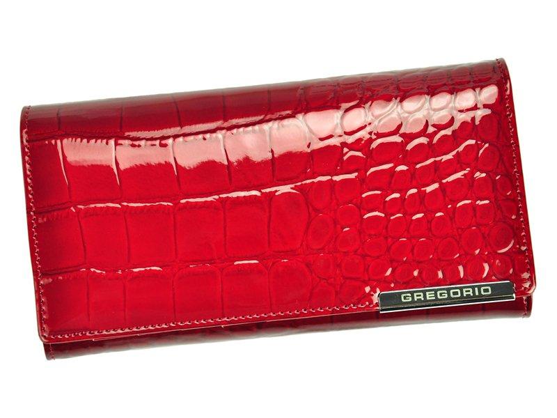 Luxusní dámská kožená peněženka Elegant Sanja croco, červená