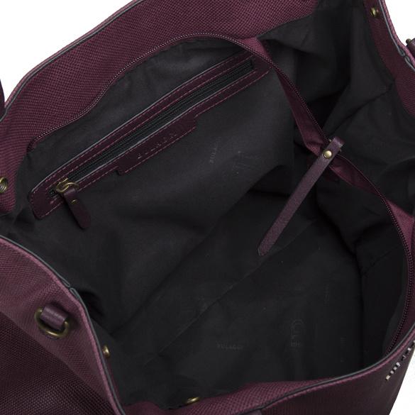 Luxusní dámská koženková kabelka BULAGGI Gerbera, burgundy
