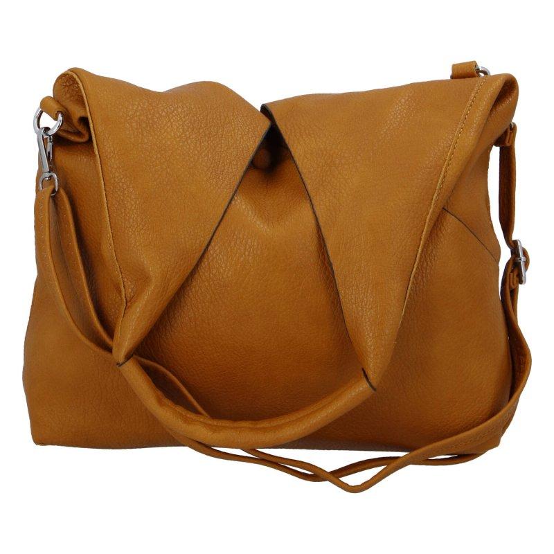 Moderní dámská kabelka 2 v 1 Ina, žlutá
