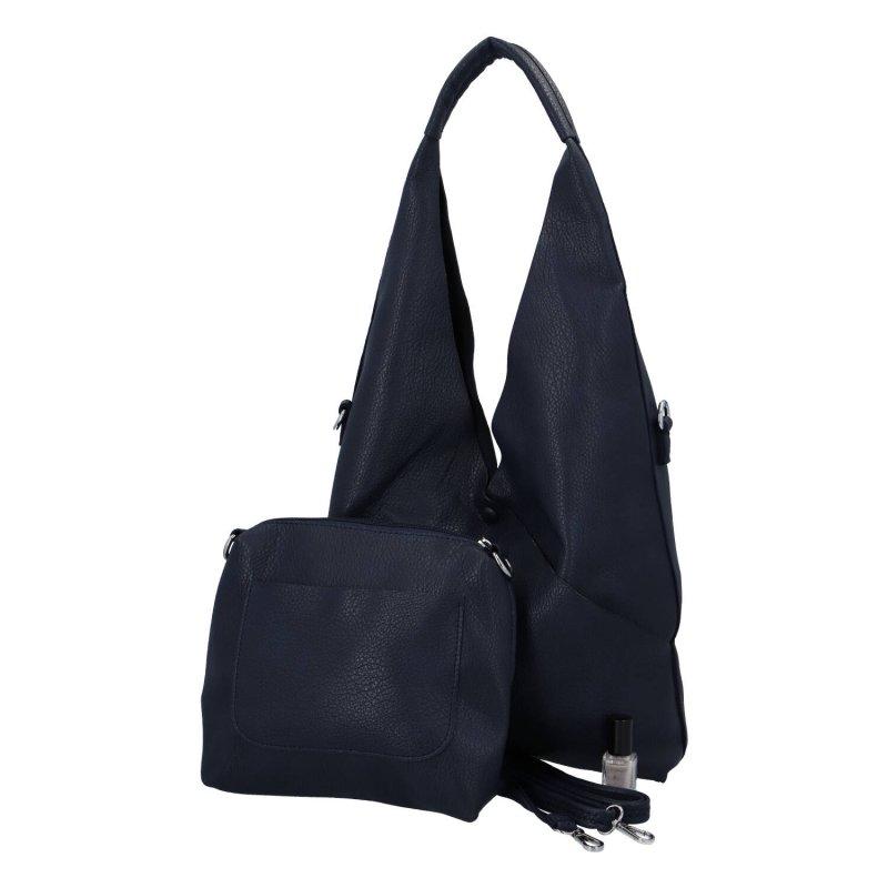 Moderní dámská kabelka 2 v 1 Ina, modrá