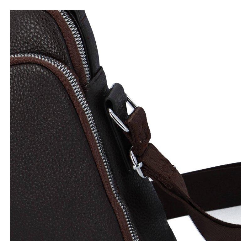 Menší koženková univerzální taška Coveri world, hnědá