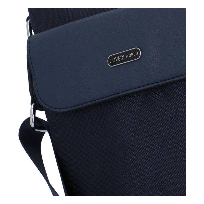 Pánská malá látková taška Coveri Elegant, modrá
