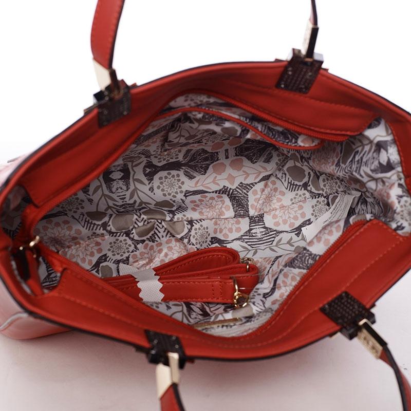 8f6686db48 Luxusní dámská kabelka červená