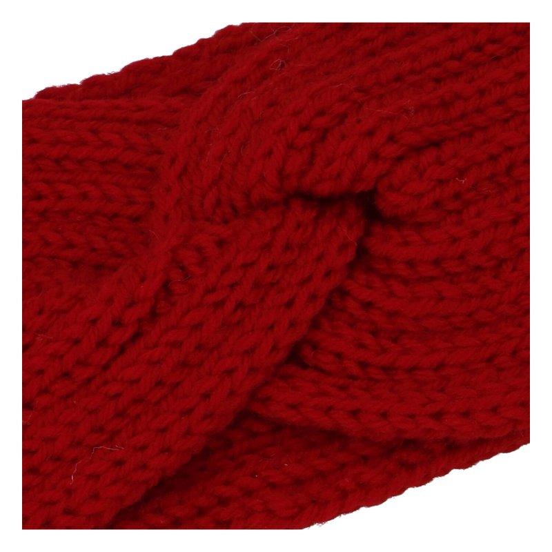 Pletená čelenka, červená