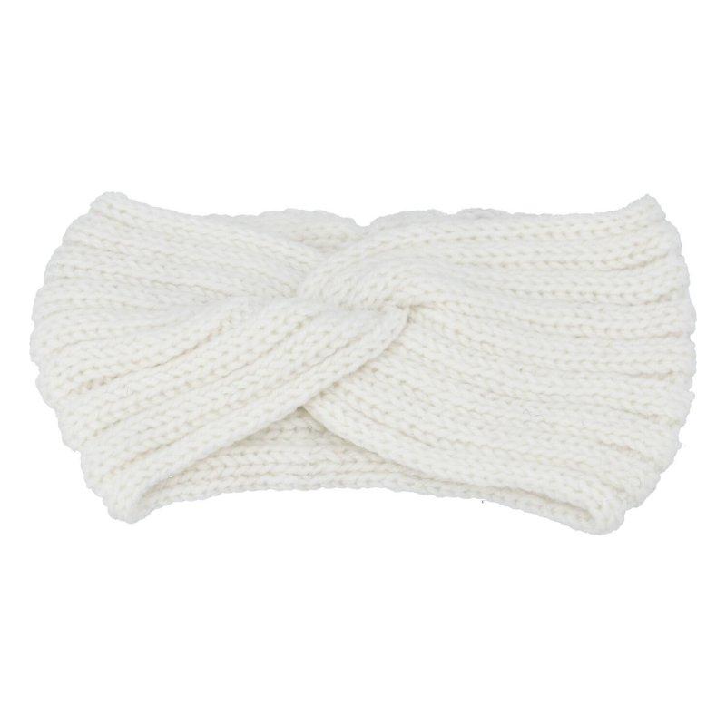 Pletená čelenka, bílá