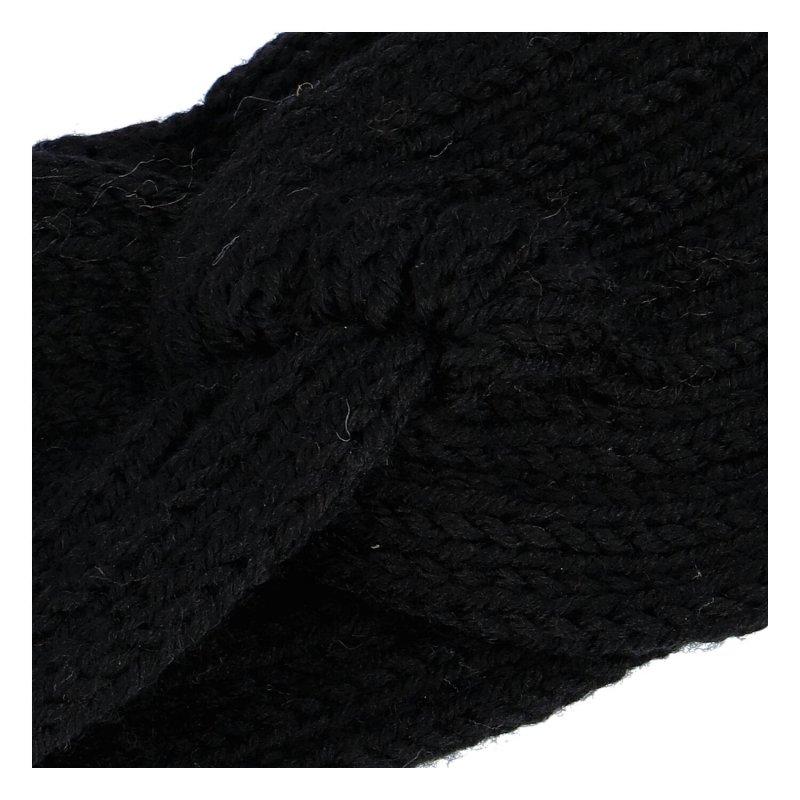 Pletená čelenka, černá