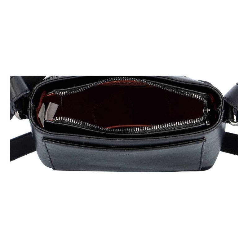 Dámská koženková crossbody kabelka Ineska, černá
