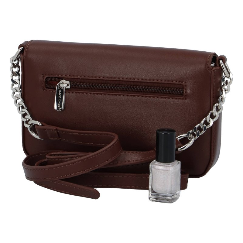 Menší dámská koženková kabelka Small dream, hnědá