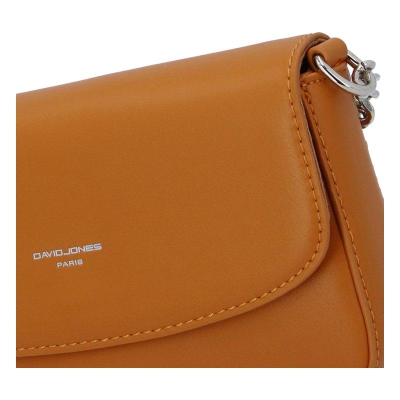Menší dámská koženková kabelka Small dream, žlutá