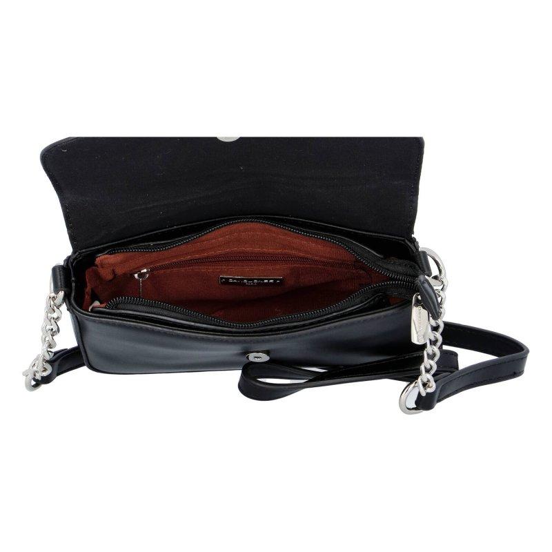 Menší dámská koženková kabelka Small dream, černá