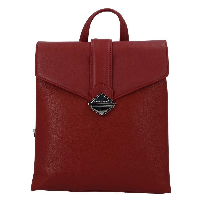 Praktický dámský koženkový batůžek Tommy, vínový