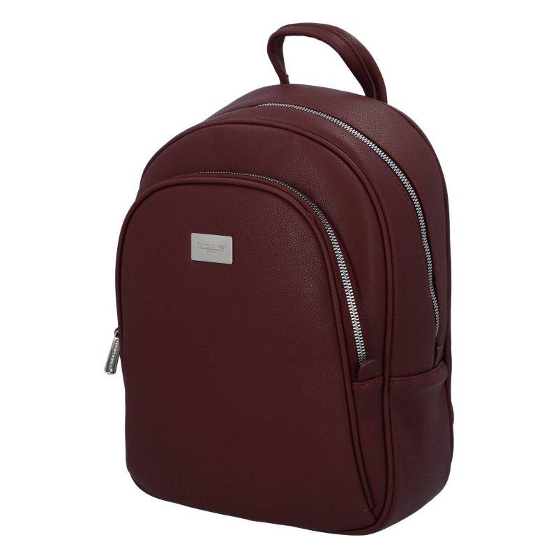 Městský dámský koženkový batoh Lejla, vínový
