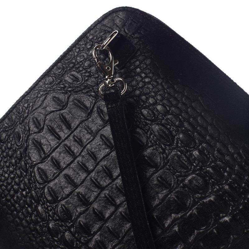 Malá dámská kožená crossbody krokodýl Sophie černá
