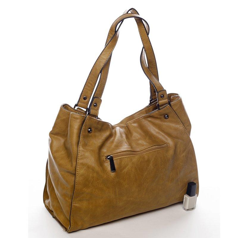 Praktická dámská koženková kabelka Sarah Zoe žlutá