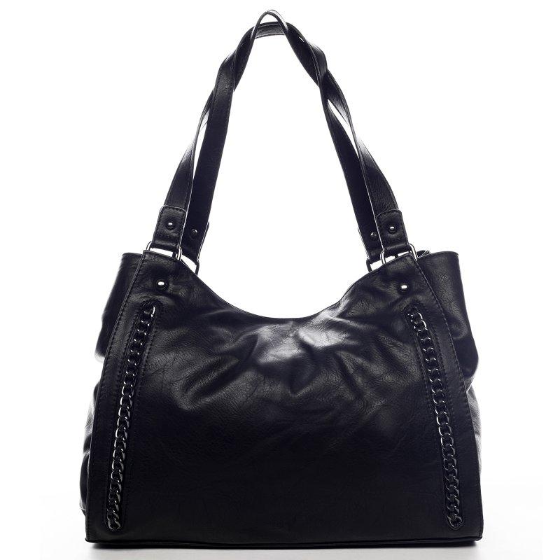 Praktická dámská koženková kabelka Sarah Zoe černá