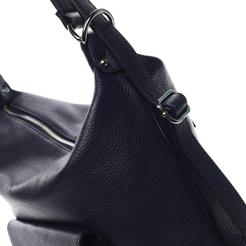 Praktická dámská kožená kabelka/batůžek Holly tmavě modrá