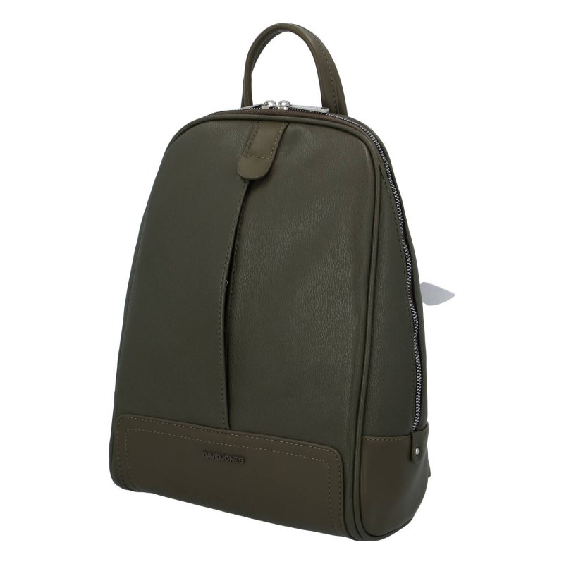 Městský koženkový batoh Simona Nice, zelený