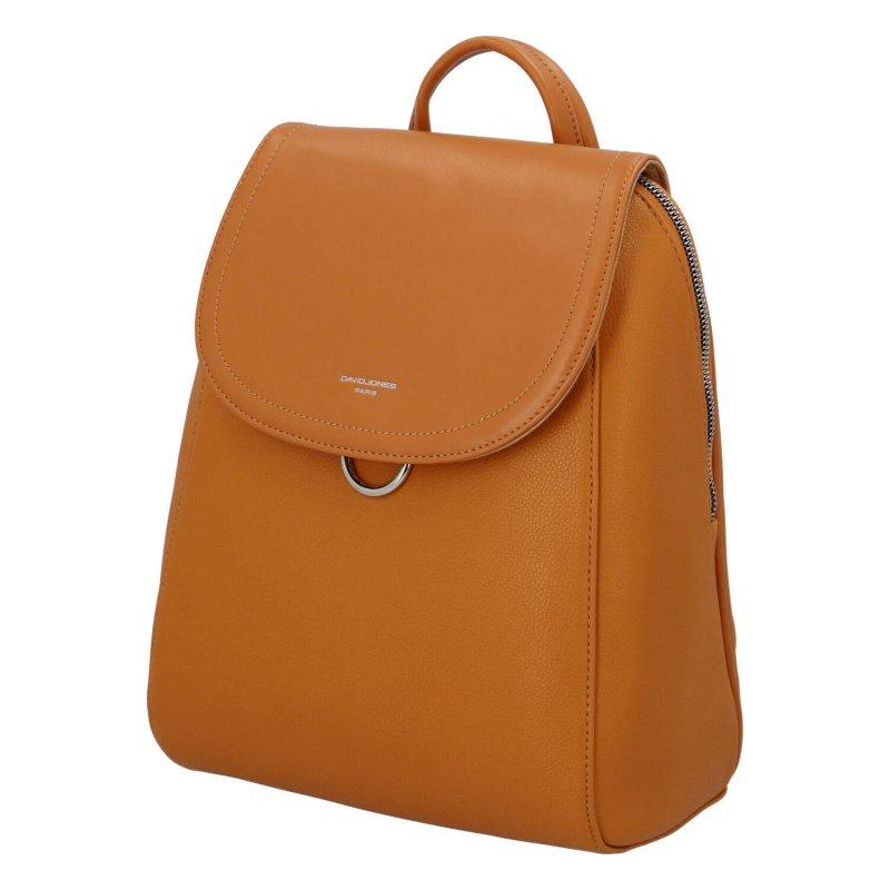 Městský koženkový batoh Lena dream, žlutý