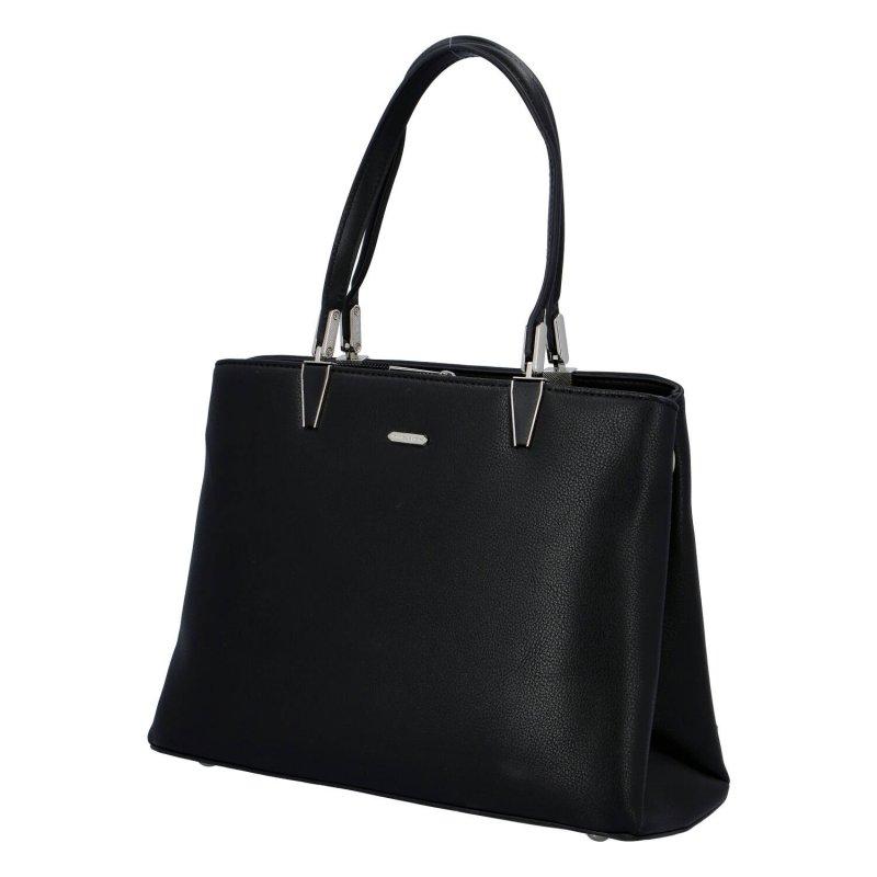 Praktická dámská koženková kabelka Chantal, černá
