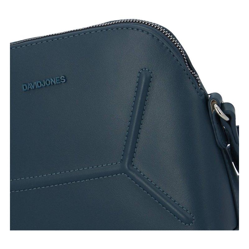 Menší dámská koženková crossbody kabelka Alička, modrá