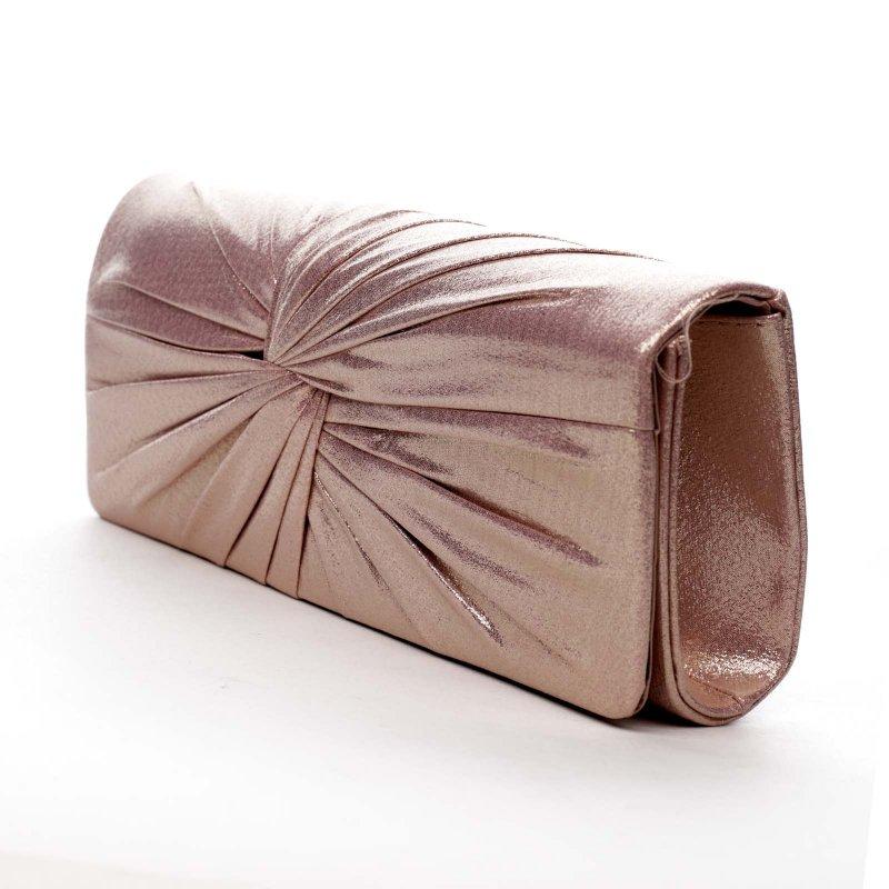 Dámská společenská kabelka Delilah, růžově zlatá