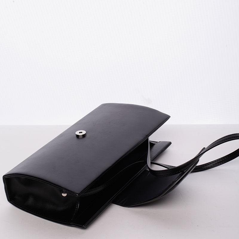 Luxusní kabelka a psaníčko Alex, matná černá