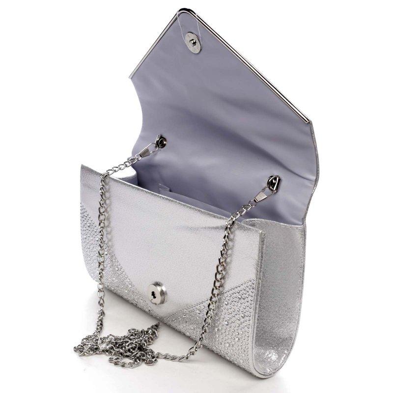 Dámská plesová kabelka Scarlett, stříbrná