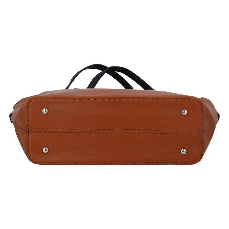 Dámská praktická taška Hazel, koňakově hnědá