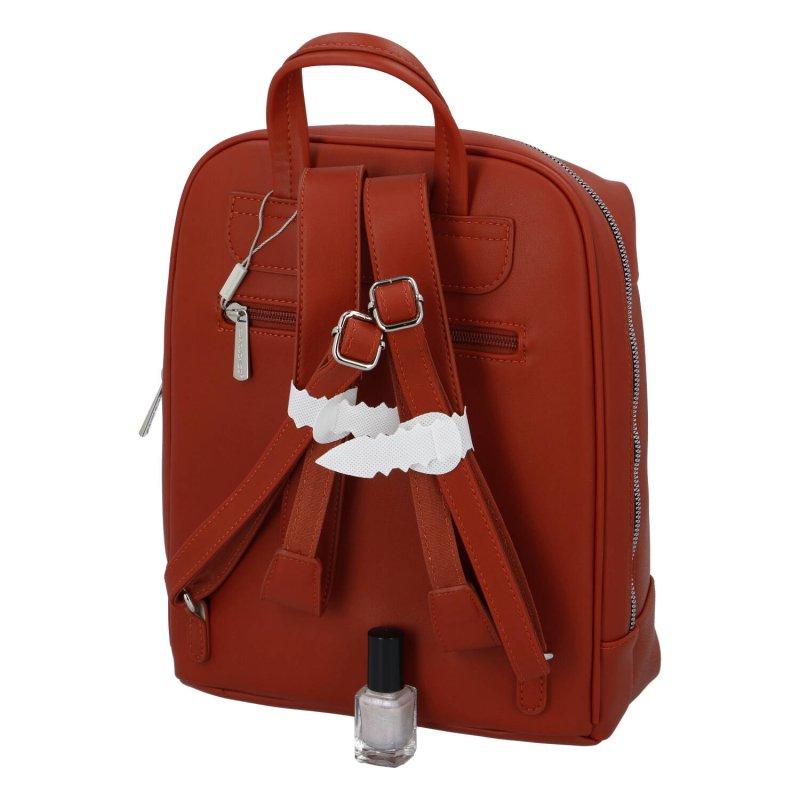 Dámský pohodlný batůžek Leila, cihlový