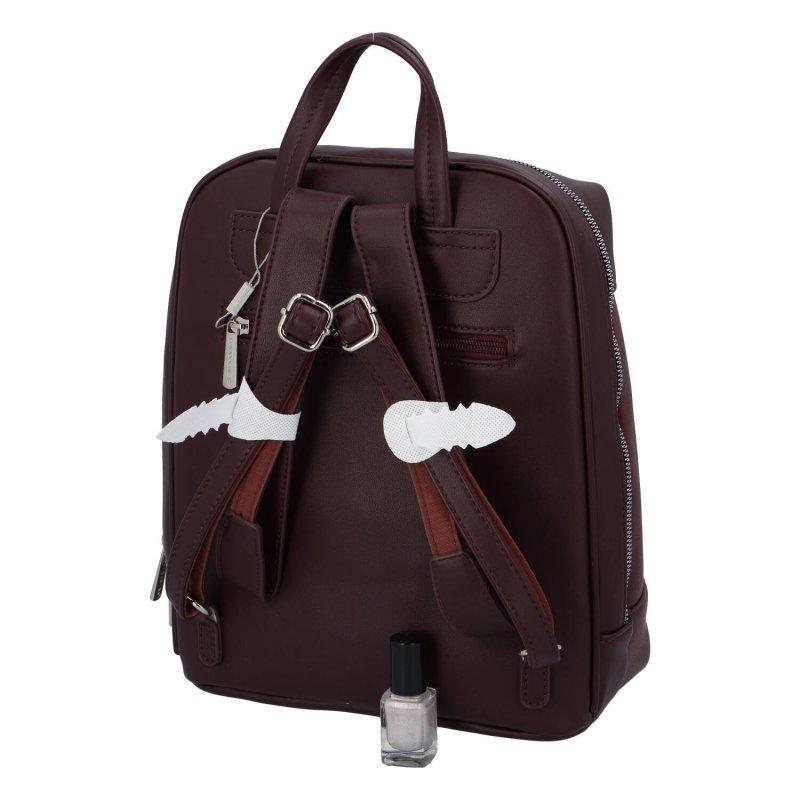 Dámský pohodlný batůžek Leila, vínová