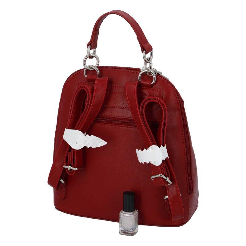 Zajímavý dámský batůžek Willie, červený