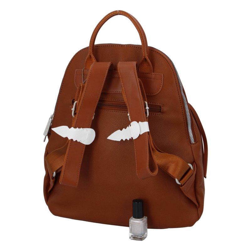 Dámský moderní batůžek Amber, koňakový