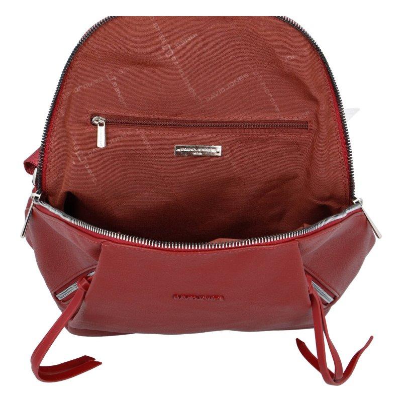 Dámský moderní batůžek Amber, červený