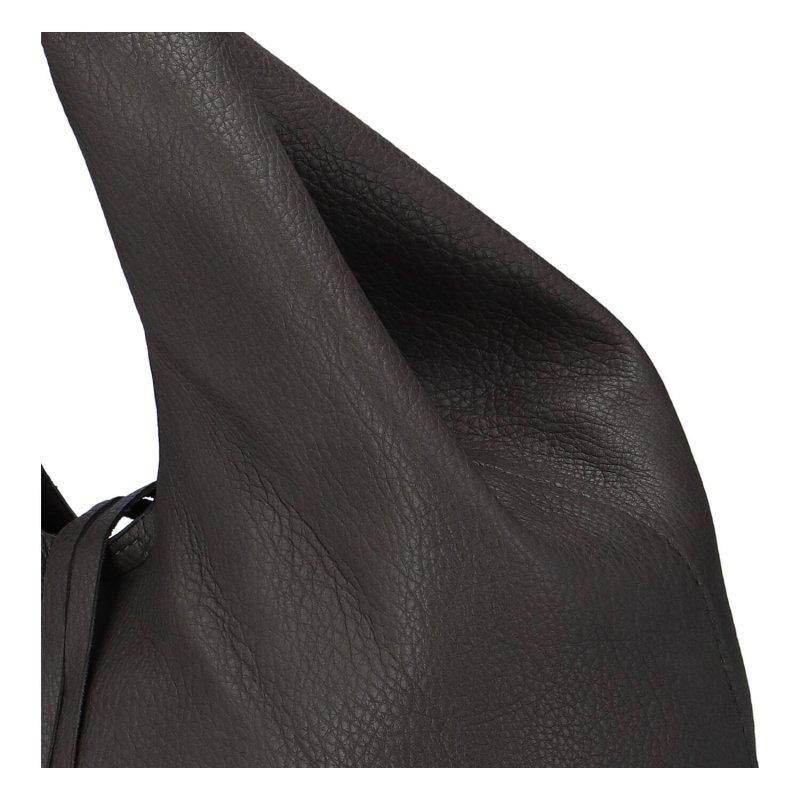 Trendová dámská koženková kabelka Esma, šedá